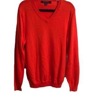 Brooks Brothers Boys Orange Sweater Medium 10/12